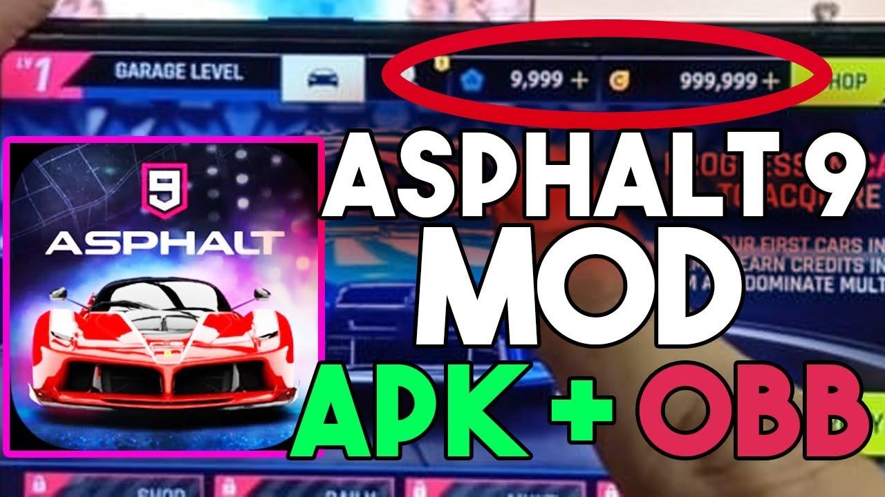 Asphalt 9 legends hack MOD + OBB Download